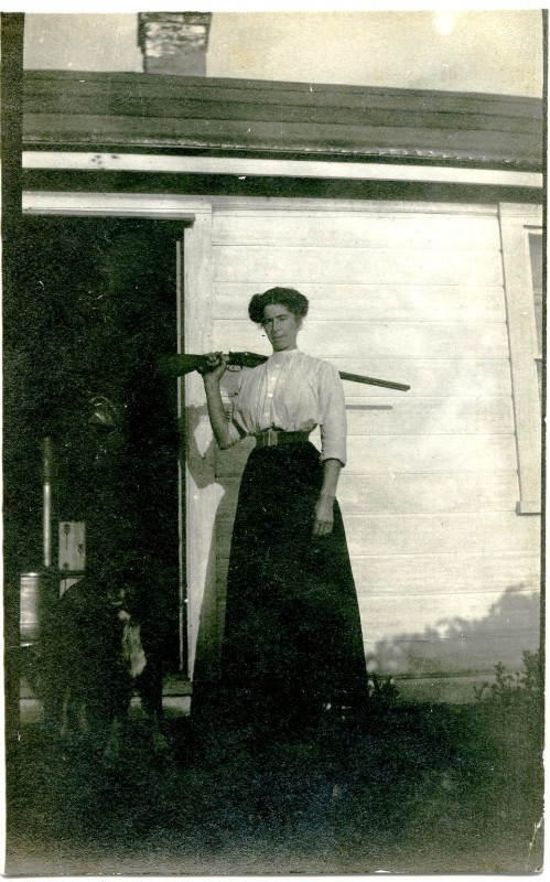 Lizzie Lawson with Her Dog Sanko. Photo Courtesy of San Juan Historical Museum