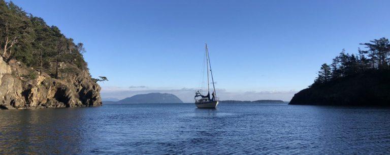 sailboat on Matia Island