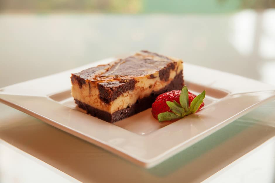 Food and Wine at Harrison House Suites - Cheesecake Swirl Brownie