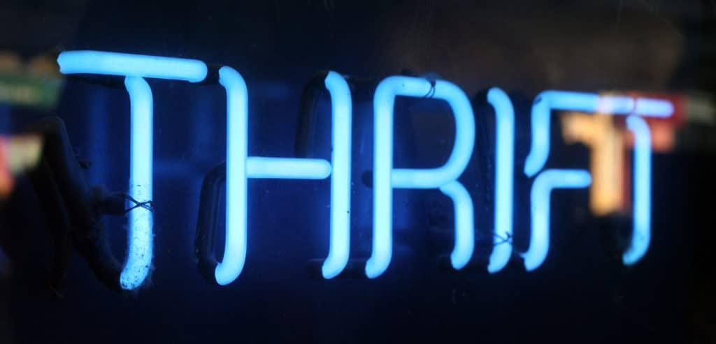Neon Thrift Sign
