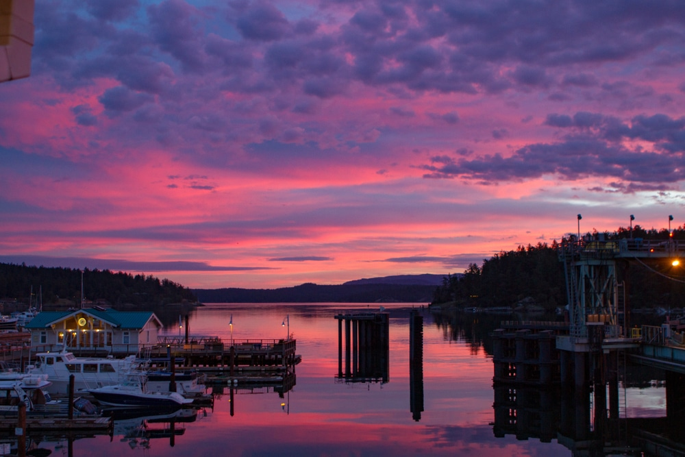 Come enjoy all of the wonderful things to do in Friday Harbor this fall, while taking in beautiful views like this one
